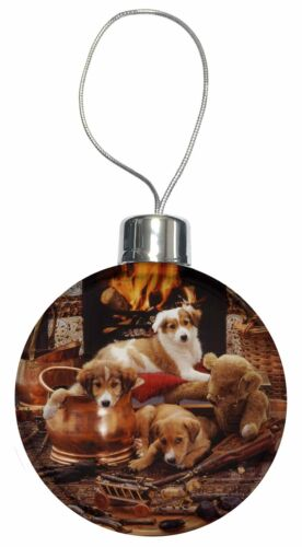 AD-BC4CB Border Collie Christmas Tree Bauble Decoration Gift