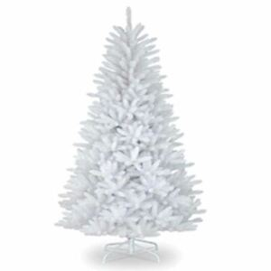 6ft-White-Artificial-Christmas-Tree-With-Metal-Stand-Traditional-Bushy-Xmas-Tree