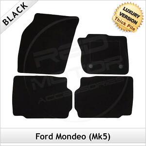 FORD-MONDEO-Mk5-2014-onwards-Tailored-LUXURY-1300g-Carpet-Car-Floor-Mats-BLACK