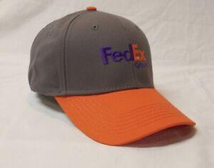 Fedex Ground Adjustable Hat Brand New Grey And Orange Cap