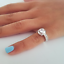 thumbnail 2 - Ladies Solitaire Cocktail Ring Cubic Zirconia  Sizes 5,9,10 Silver Cocktail