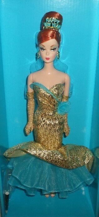 Happy New Year barbie club Holiday hostess  x8282 falta peliz año nuevo 2013 NRFB