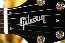 FLYING V TRUSS ROD COVER name plate for Gibson guitar (Black / Silver)