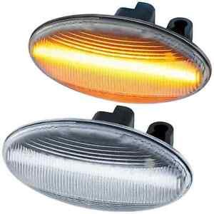 2-REPETITEUR-LED-PEUGEOT-206-206CC-206SW-307-307CC-307SW-607-107-108-407-BLANC