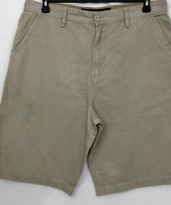 Beverly-Hills-Polo-Club-Men-s-Size-36-Beige-Flat-Front-Shorts