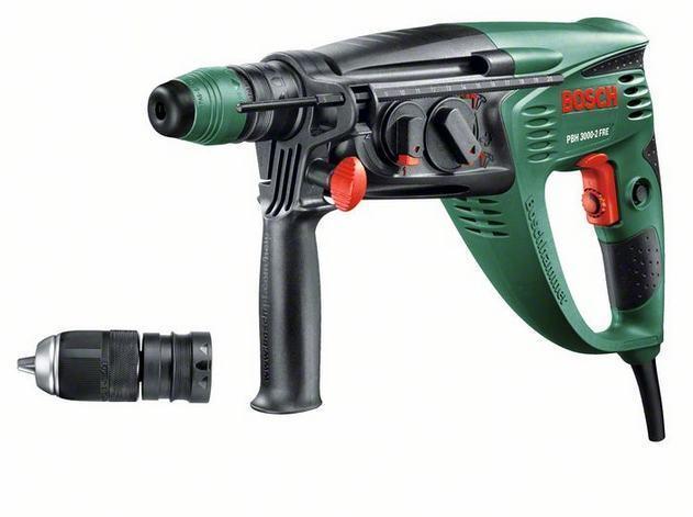 Bosch Bohrhammer PBH 3000-2 FRE 750 Watt 230 V netzbetrieben Hammerbohrer
