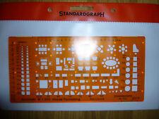NEU /& OVP standardgraph 7342 Schablone Möblierung Architekt 1:100