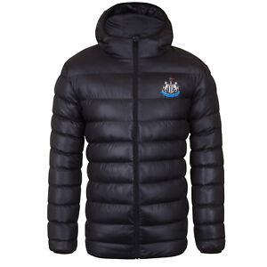 Newcastle-United-FC-Plumifero-acolchado-oficial-con-capucha-Para-hombre
