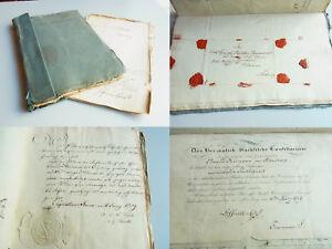 Akte-1797-1852-Dokumente-amp-Briefe-Familien-Stipendium-SCHWENCKE-in-Calbe