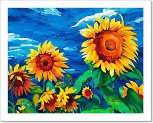 Sunflowers Art Print Home Decor Wall Art Poster C