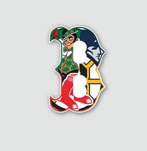 Boston B Sport Teams Fan Combined Logo Mashup Vinyl ...