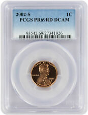 2002-s Lincoln Cent Pr69rd DCAM PCGS Proof 69 Red Deep Cameo