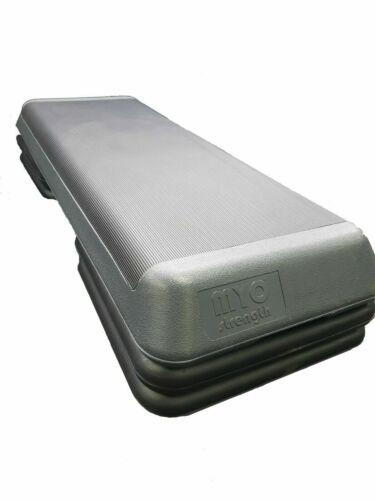 Myo Aerobic Step with 4 Risers Grey