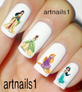 Disney-Princess-Nail-Art-Water-Decals-Stickers-Manicure-Salon-Polish-Mani-Gift