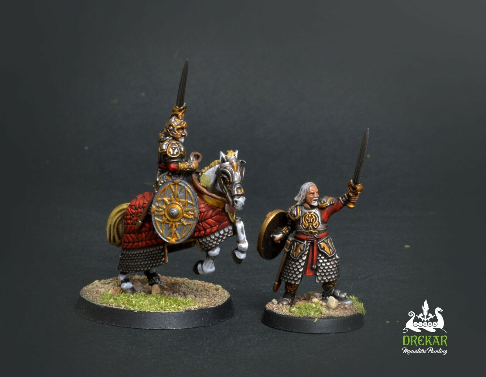 Théoden King of Rohan - Battle for middle earth  COMMISSION  painting