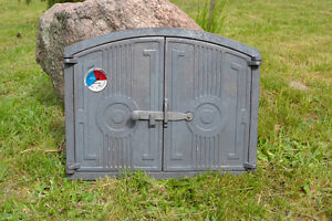 58.5 x 43 cm cast iron fire door clay bread oven doors pizza with thermometer