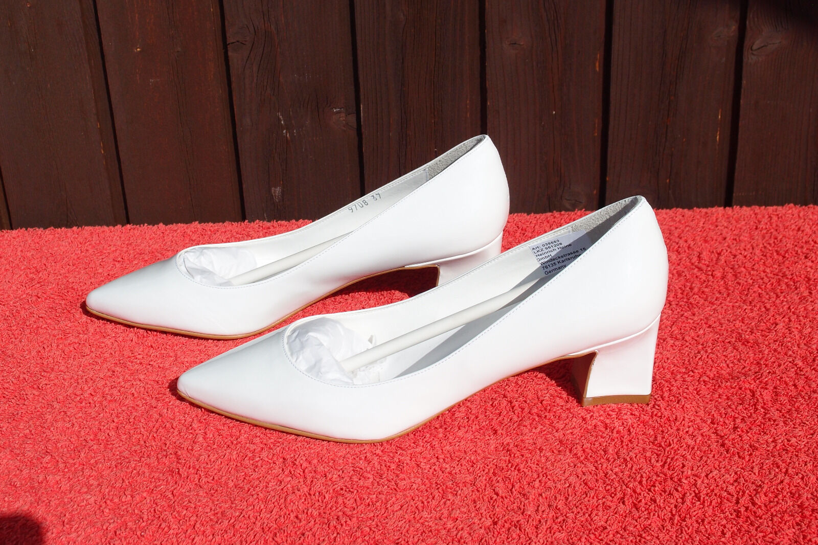 Echt Lack Leder Damen Pumps / Lack Echt Braut Heels in Weiß Best Connections by HEINE 36 a8c3aa
