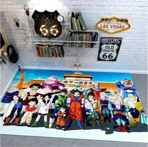 Dragon Ball Z Rug Anime Living Room Table Blanket Computer Chair Floor Mat Rugs