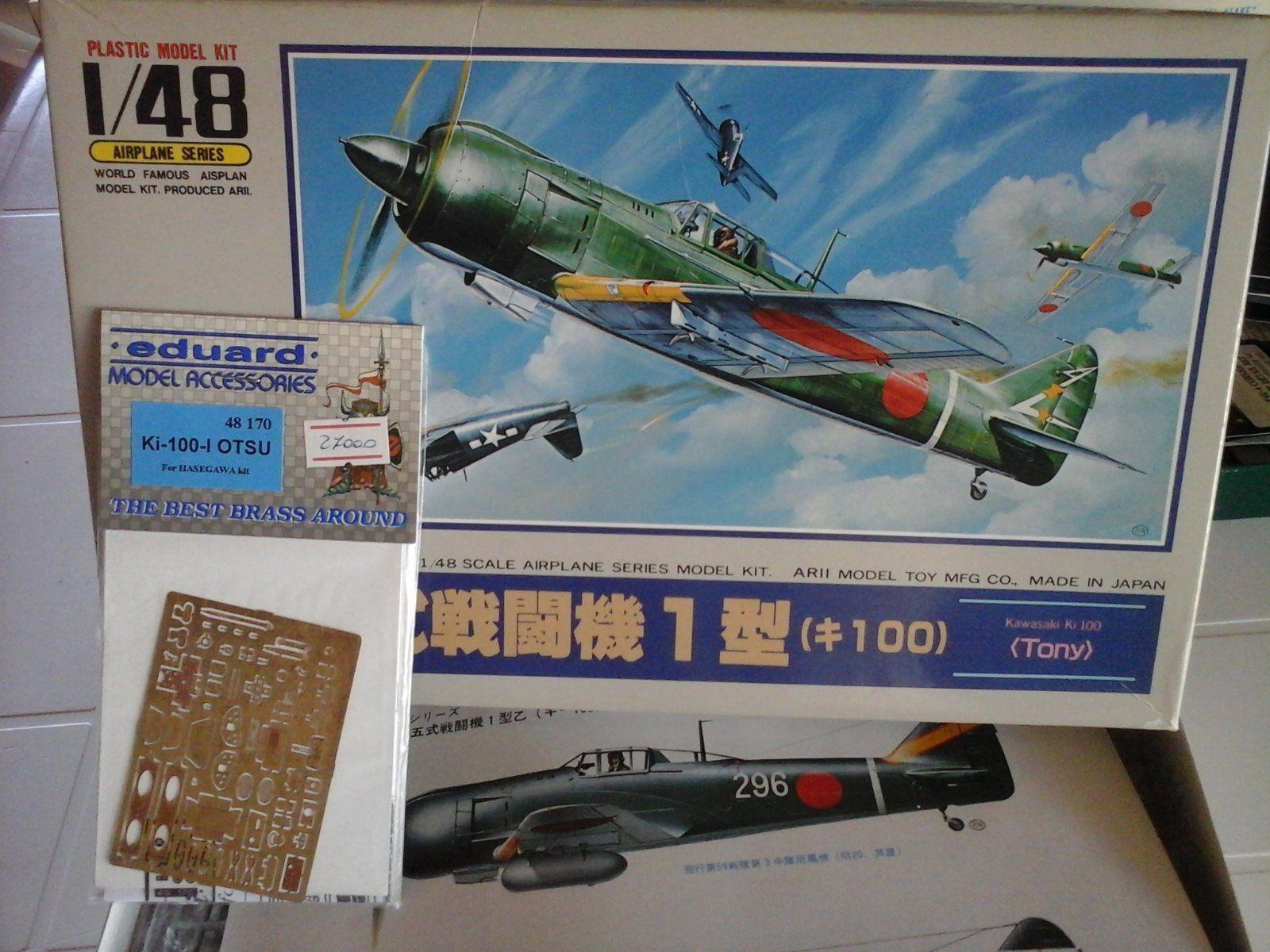 KAWASAKI KI100I OTSU  TONY  1 48 SCALE ARII JAPAN MODEL+PHOTOETCHED PARTS