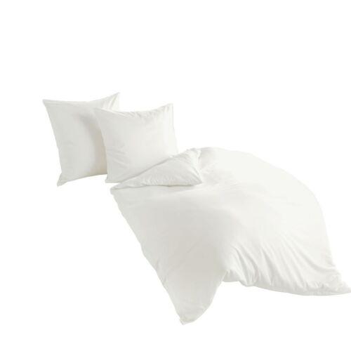 Bierbaum De Haute Qualité Uni finement Castor linge de lit unicolore blanc 100/% coton