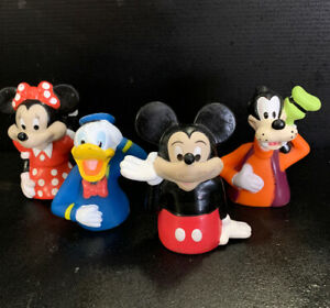 Set-Of-4-X-DISNEY-MICKEY-MOUSE-Vintage-McDonalds-Happy-Meal-Plastic-Toys