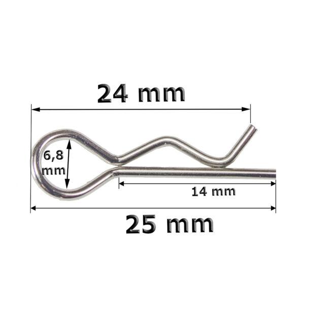 10 Stück Karosserieklammern Body Clips 1,2 cm Karosseriesplinte Splinte Teile