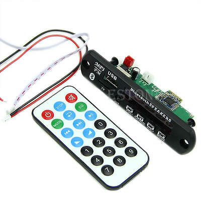 Wireless Bluetooth 12V MP3 WMA Decoder Board Audio Module USB TF Radio Fr Car