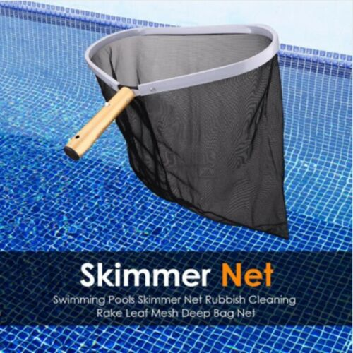 Heavy Duty Swimming Pool Leaf Net Skimmer Strong Aluminum Frame Cleaning Leaf
