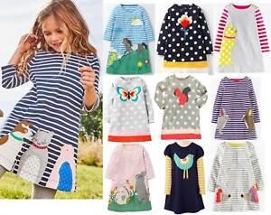 1eb5ec863a2 Image is loading Dress-Mini-Boden-girls-applique-jersey-tunic-butterfly-