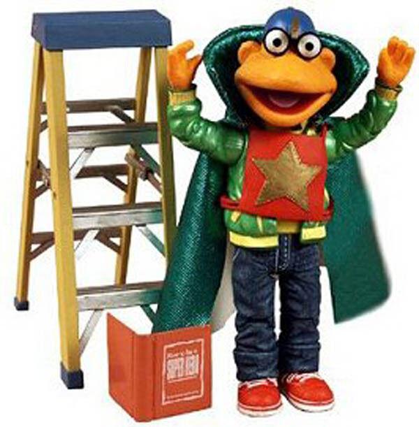 Die muppets - serie superheld roller palisades exklusive action - figur mib spielzeug