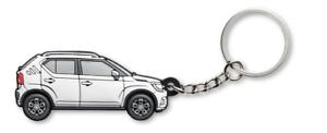 NEW Genuine Suzuki IGNIS 2017-/> KEYRING KEYCHAIN RUBBER WHITE 99000-990M1-K02