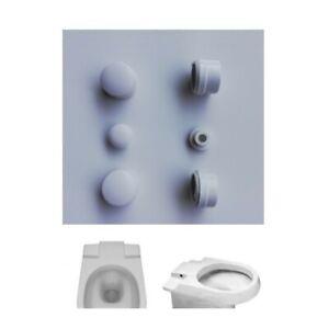 Paracolpi Per Sedile Wc.Paracolpi Di Ricambio Per Sedile Wc Copriwater Modello Carena Cidneo Bianco Ebay