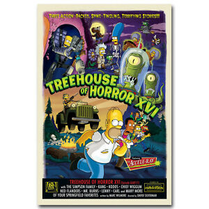 The Simpsons Hot Movie Art Silk Poster Canvas Print