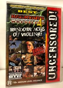 WWE The Best Of Backyard Wrestling 4 - DVD - Region 4 - | eBay