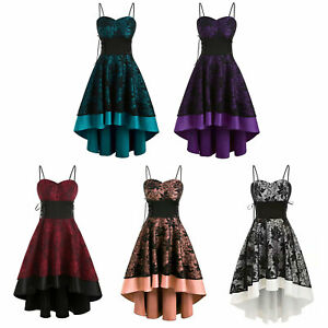 Women-Lace-up-Cocktail-Dress-Ladies-Evening-Party-Ball-Gown-Floral-Party-Dresse