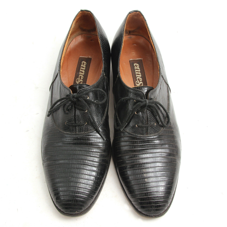 Vintage Ennesi Lace Up Oxford Genuine Lizard shoes Men's Size 10.5