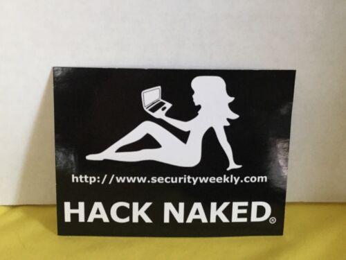 "1 Hacker Hack Naked Sticker 4""x 3"" Computer hack naked decal"