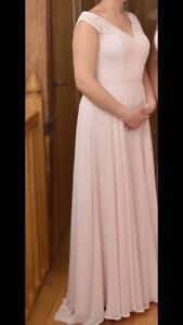 Image Is Loading Dessy After Six Blush Bridesmaid Dress 6715 Size
