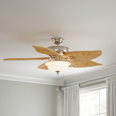 Damp Outdoor Indr 56 Quot Pine Wood Palm Leaf Ceiling Fan