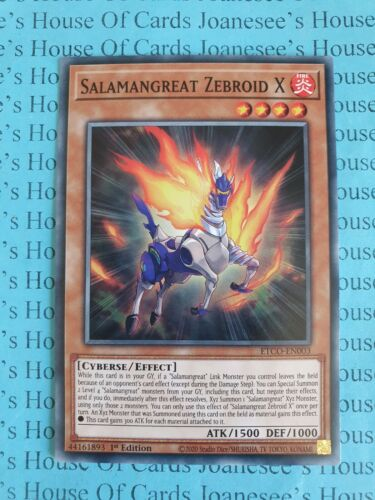 Salamangreat Zebroid X ETCO-EN003 Common Yu-Gi-Oh Card 1st Edition New