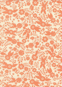 Camelot-Flourish-Floral-Cotton-Fabric-Small-Floral-Peach-By-the-Yard-BFab
