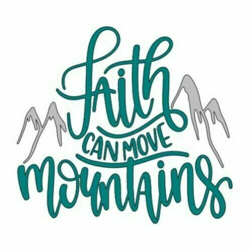 Faith Can Move Mountains Car Cup Sticker Decal God Jesus Salvation Hope Love
