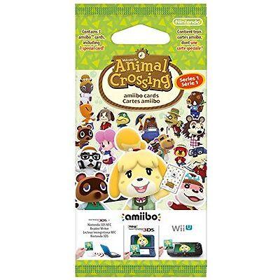 Animal Crossing: Happy Home Designer Season 1 amiibo Cards 3 Pack NEW & SEALED