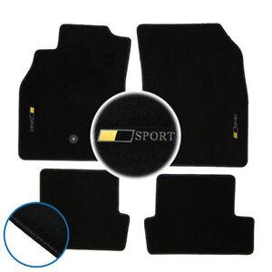 tapis sol megane 3 1 9 2 0 dci 2 0 tce gt moquette logo sport blanc sur mesure ebay. Black Bedroom Furniture Sets. Home Design Ideas
