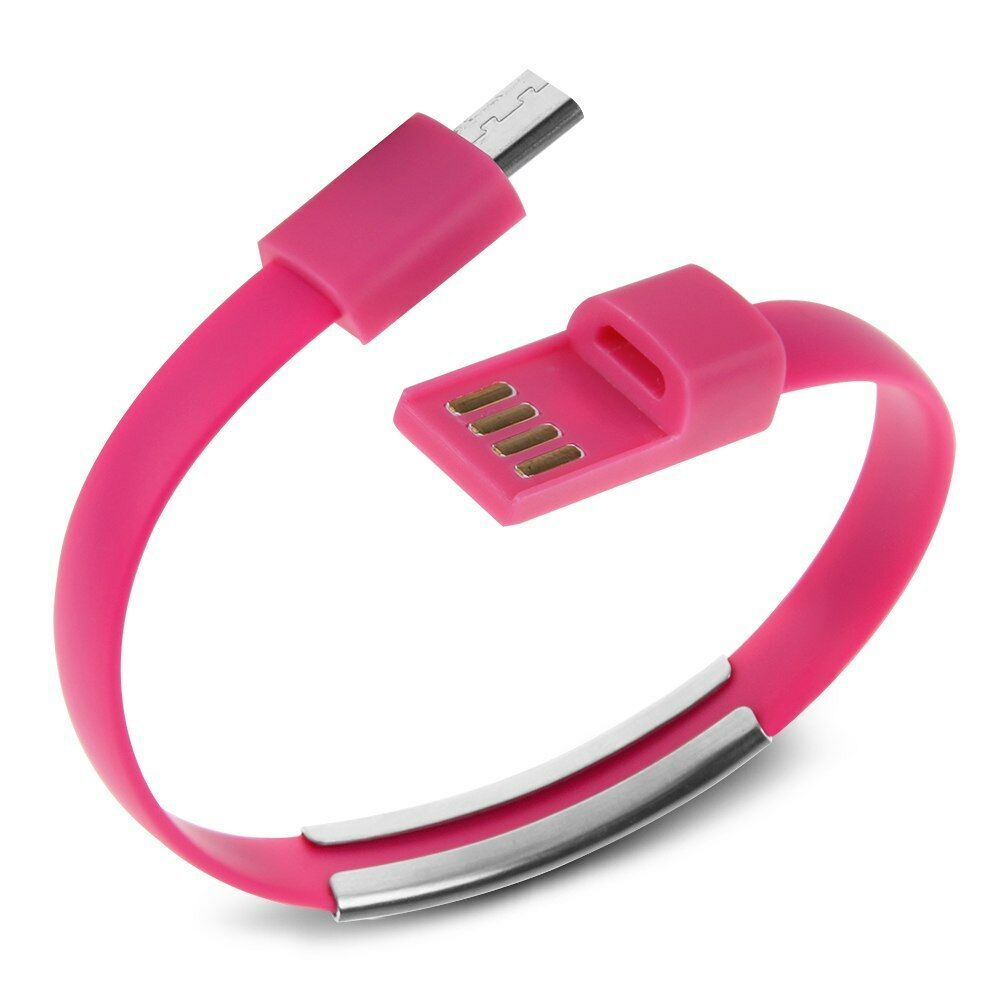 Micro Usb To Usb Cable Bracelet Charger Data Sync Cord