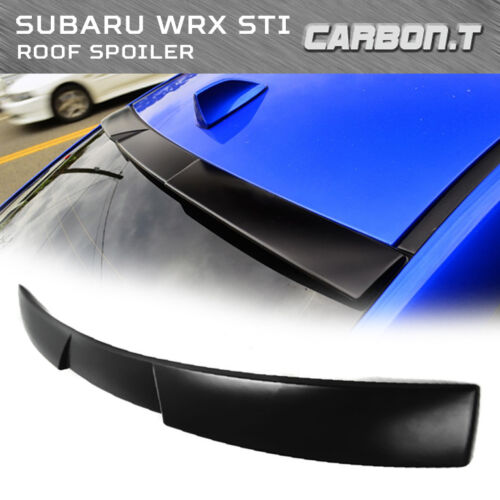 Unpainted 2015-16 For Subaru WRX STI Sedan V Type Roof Spoiler ABS
