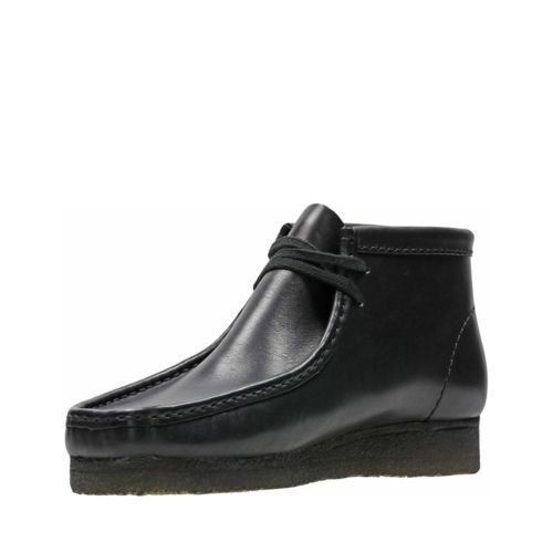 9654771fa29 Clarks of England Wallabee Boot Men Shoes Black Leather Comfortable  26103666 9