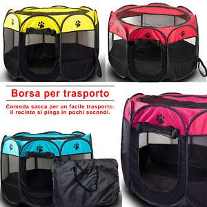 Box-Pieghevole-per-Animali-Recinto-per-Cani-Gatti-Cuccioli-Conigli-Esterno-Borsa