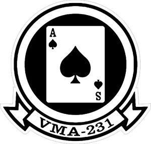 USMC-Marine-Corps-VMA-231-Decal-Sticker