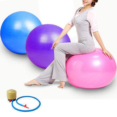 55CM Balance Stability Health Gym Exercise Ball Yoga Fitness + Air Pump 3 Color